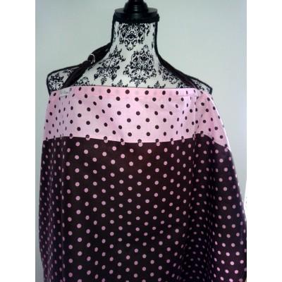 Kojící zástěra - Pink Dots
